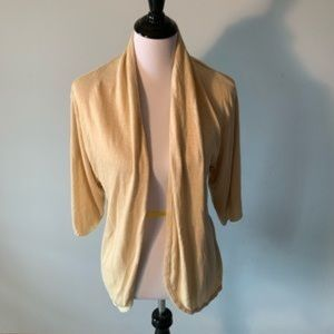 a.n.a. A New Approach Tan Cardigan Sweater size XL